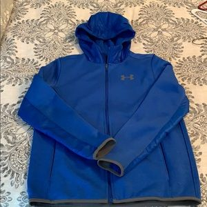 Under Armour blue hooded jacket - YL